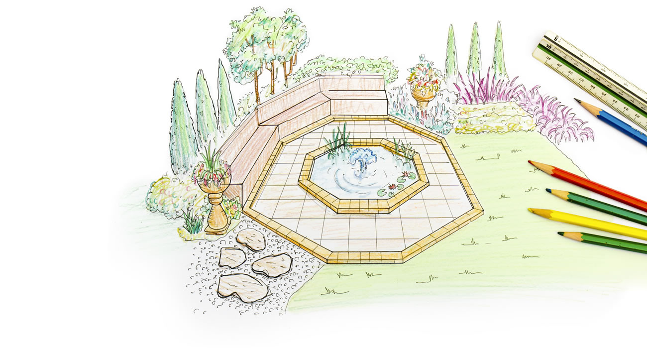 Garden design drawing the image kid has it for Advanced landscape design
